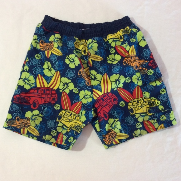 Carter's Other - Carters Boys Swim Shorts Size 3T Hawaiian Print